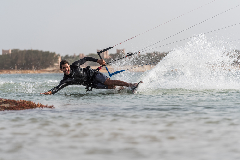 Paulino Pereira ripping in Sal, CPV, with his Ozone kitesurfing gear.
